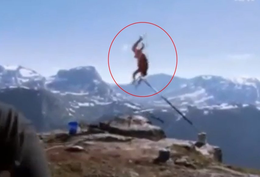 Norvegas nukrito nuo 1,2 km. aukščio uolos