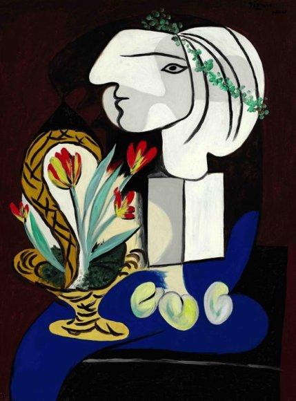 """Picasso paveikslas """"Nature morte aux tulipes"""", tapytas 1932 metais"""
