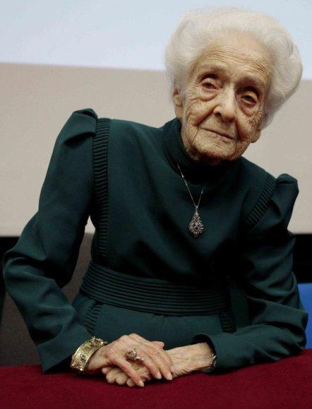 Nobelio medicinos premijos laureatė Rita Levi-Montalcini