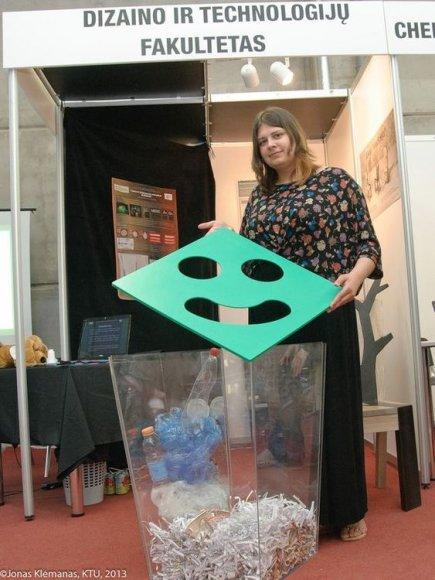 KTU Inžinerinio dizaino studentei Viktorijai Liupševičiūtei pavyko sugriauti mitą, kad rūšiuoti atliekas yra nestilinga