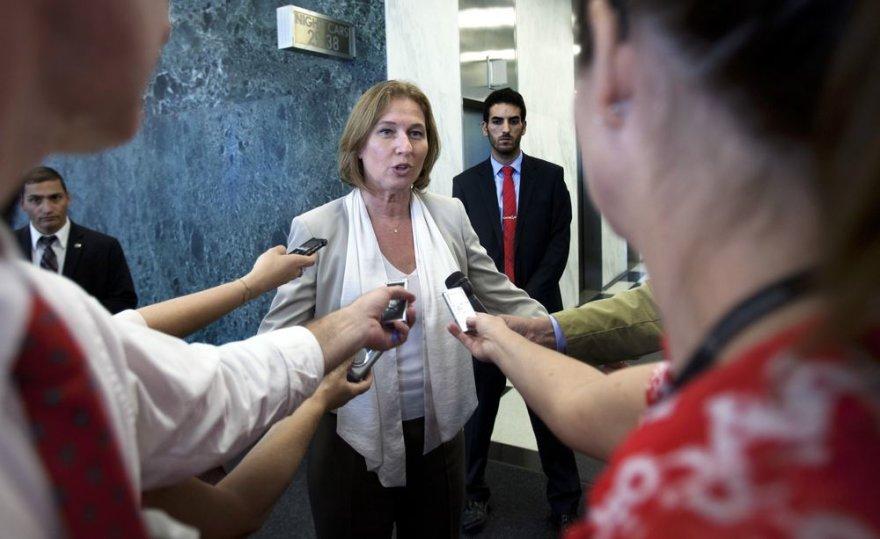 Izraelio vyriausioji derybininkė ir teisingumo ministrė Tzipi Livni