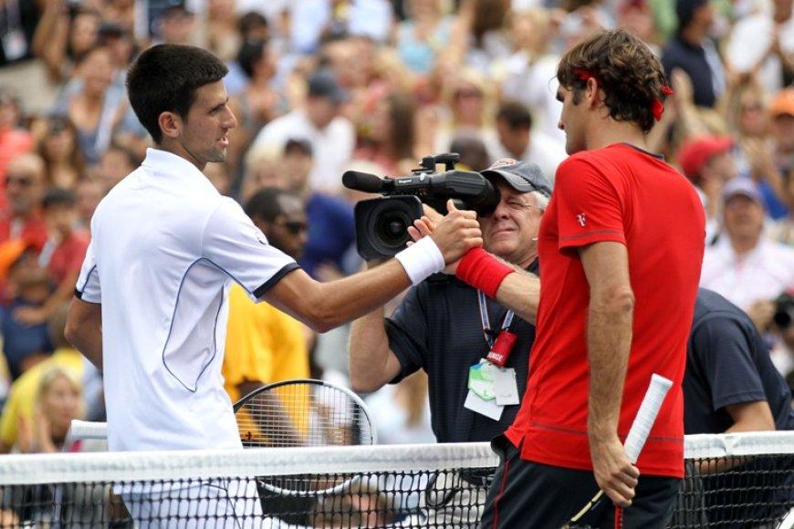 Novakas Džkovičius ir Rogeris Federeris