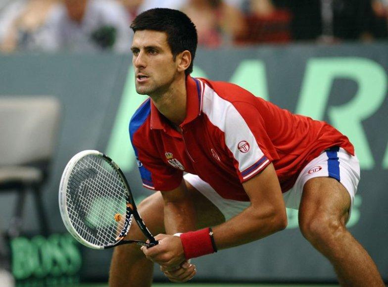 Novako Džokovičiaus traumą Daviso taurės finale