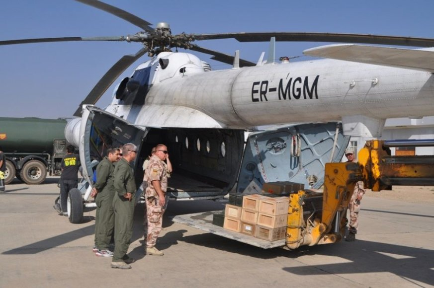 Lietuvos karių technika išgabenama iš Afganistano