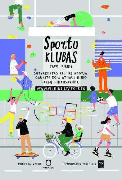 Vilniaus m. sav. iliustracija/Kiemų sutvarkymo programos palakatai