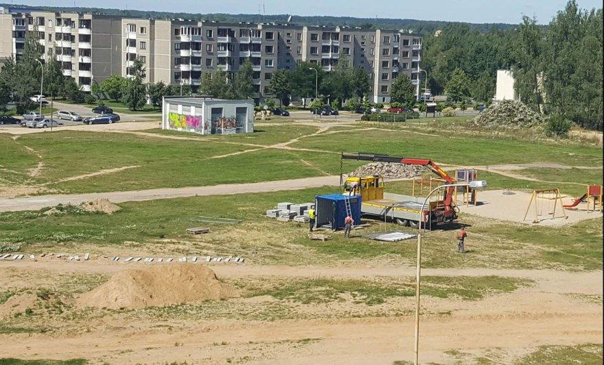 Idilijos Lapin nuotr./Sklypas Pilaitėje, kur tikimasi turėti mokyklą ar darželį