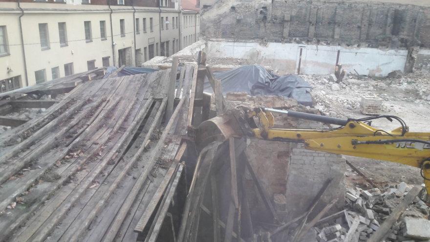 15min skaitytojos nuotr./Vaizdas į statybas Šv. Stepono g. 12