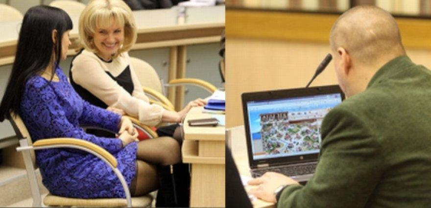Kauno miesto tarybos posėdžio metu