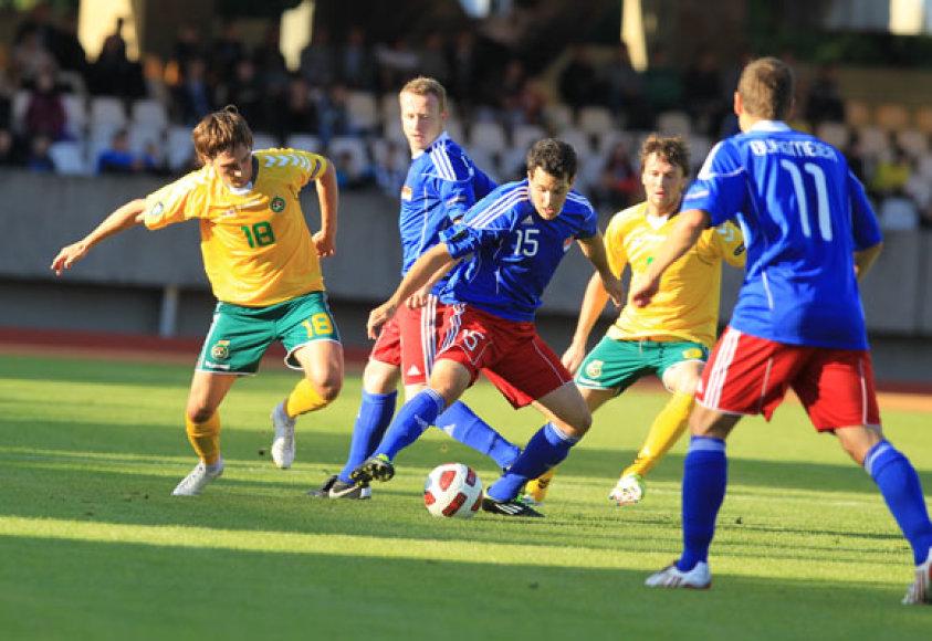 """""""Euro 2012"""" atrankos etapo pirmos grupės rungtynės Lietuva – Lichtenšteinas."""