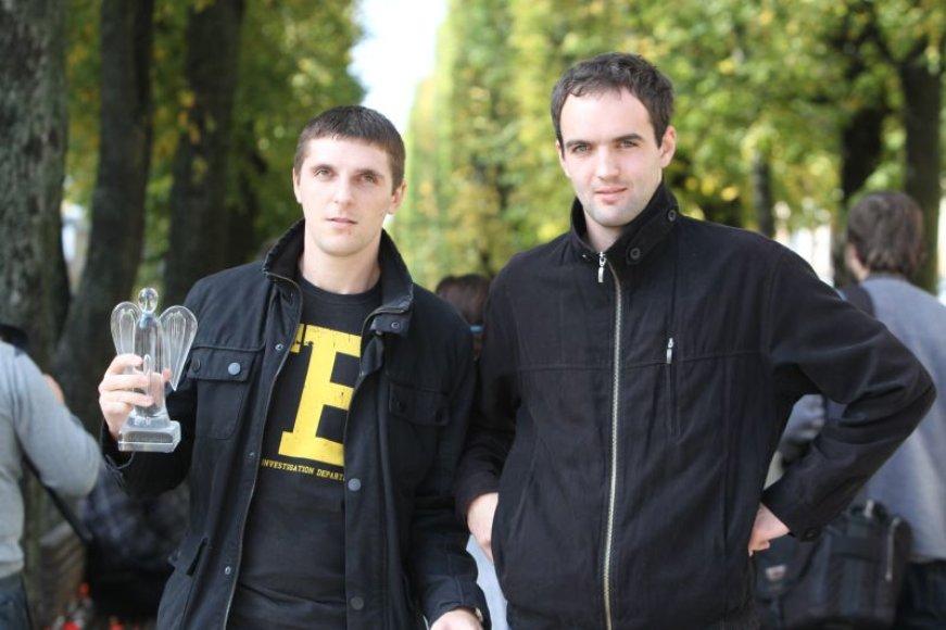V.Rulevičius (d.) ir T.Maksimovas sulaikė nusikaltėlius