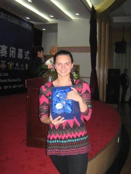 Lina Pleskytė - povandeninio plaukimo su pelekais Pasaulio taurės nugalėtoja