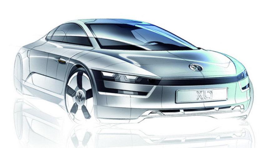 """Koncepcinio """"Volkswagen XL1 SEV"""" eskizas"""