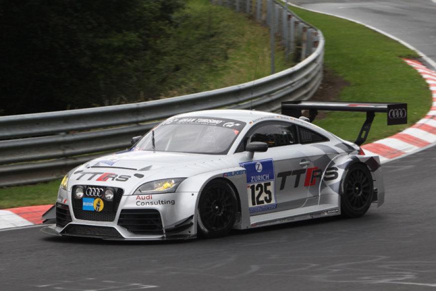 """Žiedinėms lenktynėms pritaikytas """"Audi TT RS"""""""