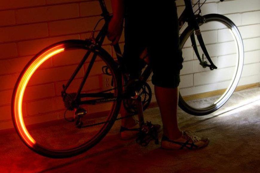 """""""Revolights"""" dviračių šviesos"""