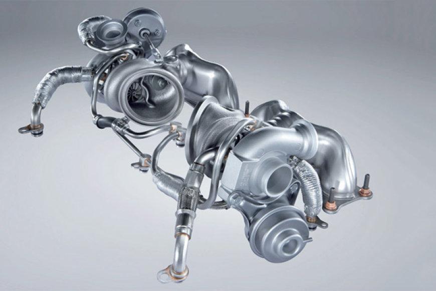 Dviejų turbokompresorių technologija, naudojama 335i modelyje
