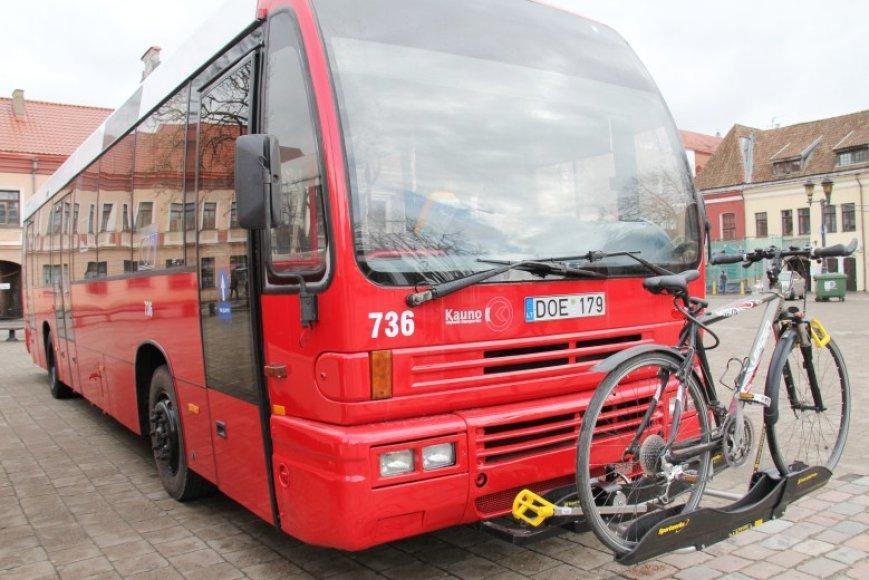 Autobusas su dviračių laikikliu