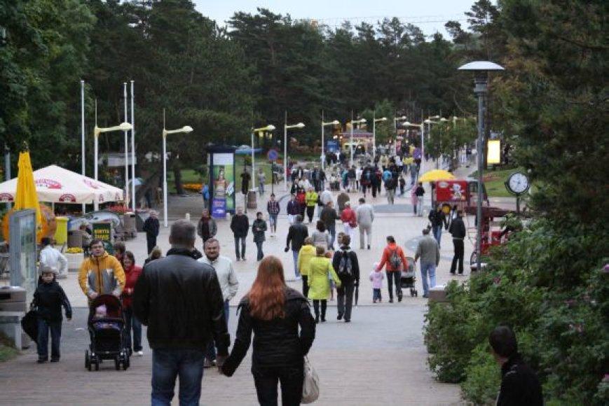 Tikimasi, kad informacijos sklaida padės į Palangą pritraukti dar daugiau turistų iš JAV.