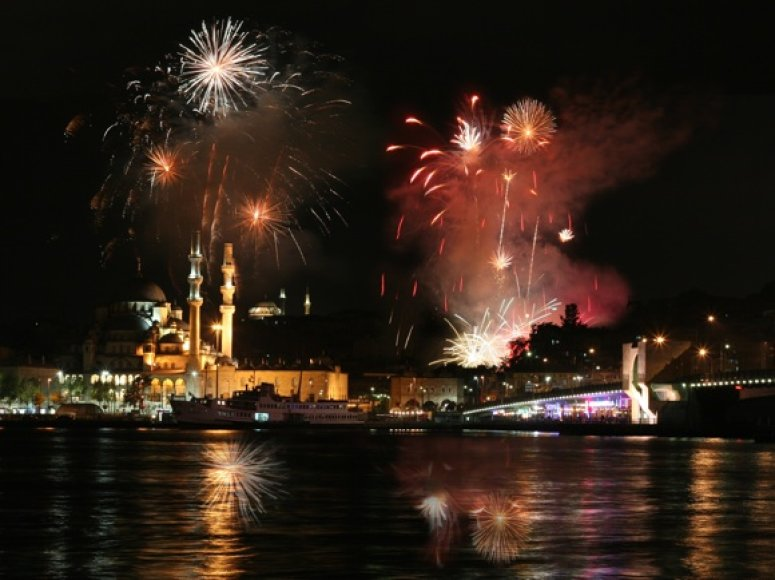 Fejerverkai Stambule