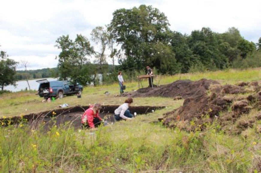 Prie Tauragnų ežero dirba jungtinė KIlaipėdos ir Getingeno universiteto archeologų grupė