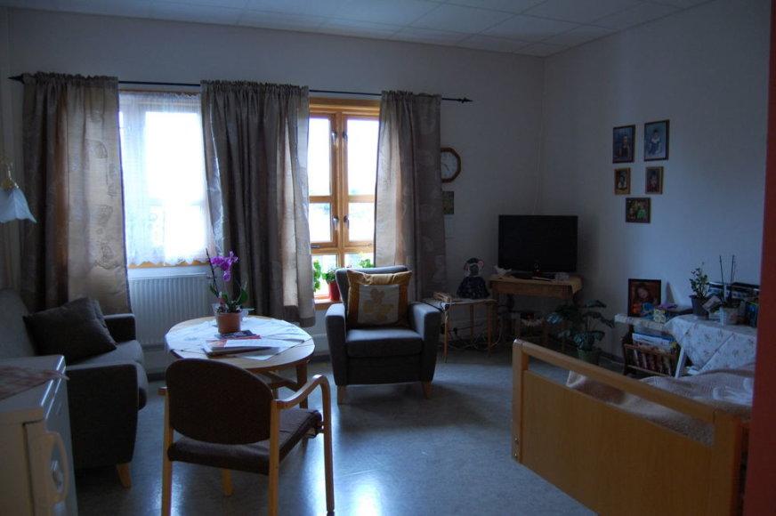 Senelių namai Norvegijoje. Vieno iš senjorų palata.