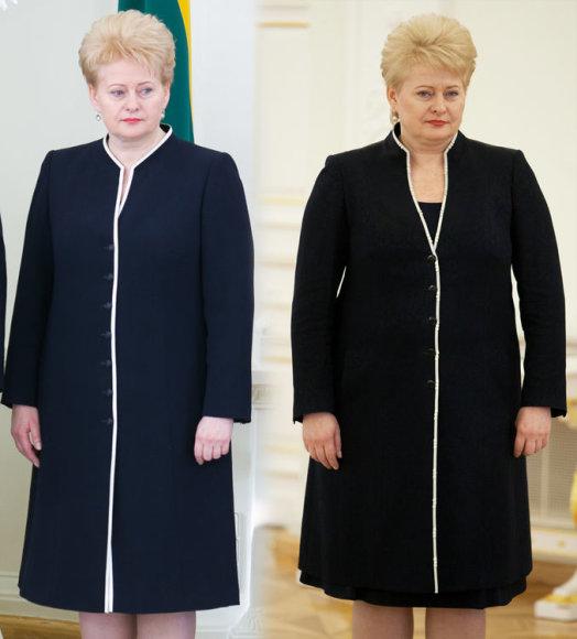 Prezidentė Dalia Grybauskaitė 2013 m. ir pernai