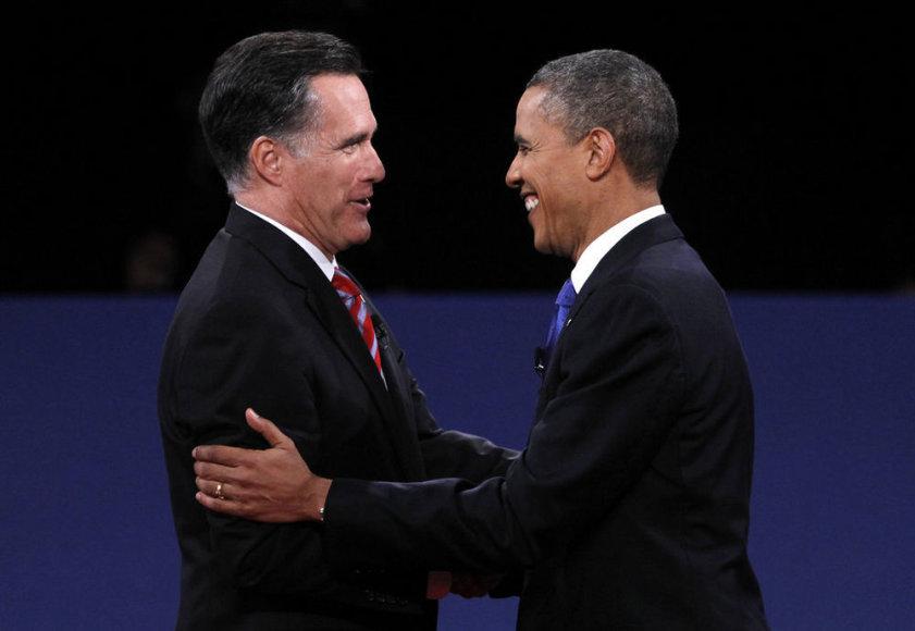 М. Ромни и Б. Обама