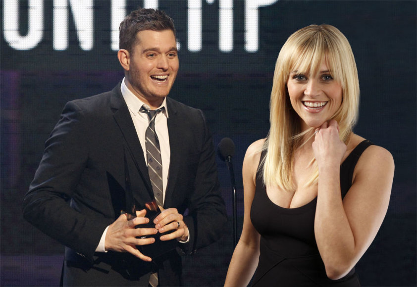 Michael Buble ir Reese Witherspoon