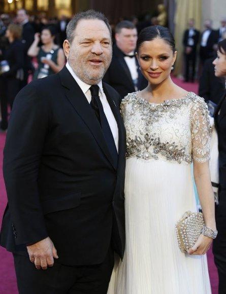 Harvey Weinsteinas su žmona Georgina Chapman
