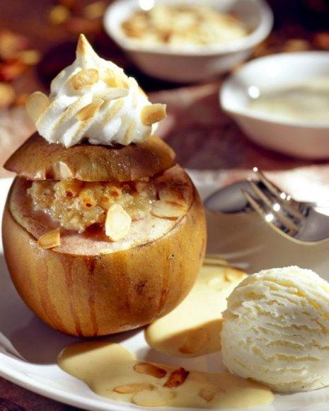 Obuoliai su spanguolėmis