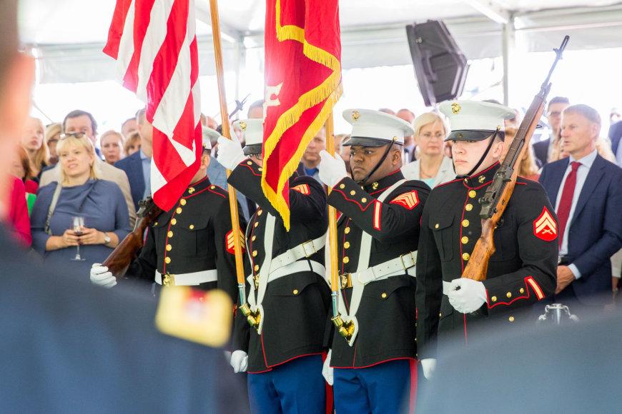 Luko Balandžio / 15min nuotr./JAV Nepriklausomybės dienos minėjimo akimirka