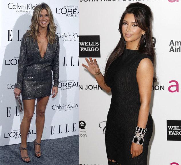 Jennifer Aniston ir Kim Kardashian