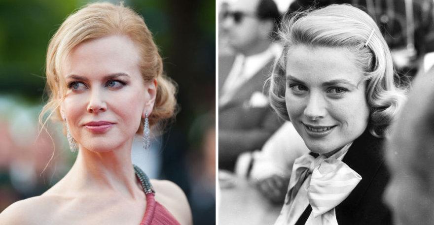 Nicole Kidman (kairėje) ir Monako kunigaikštienė Grace