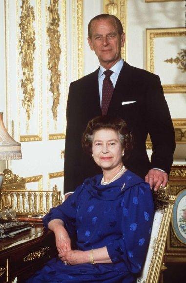 """""""Scanpix"""" nuotr./Elizabeth II ir princas Philipas 40-ųjų vedybų metinių dieną"""
