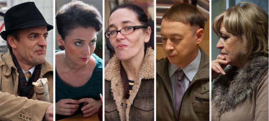 """Filmo """"Vardas tamsoje"""" aktoriai ir režisierė Agnė Marcinkevičiūtė (centre)"""