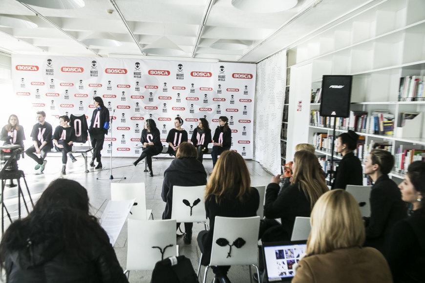 """Viganto Ovadnevo/Žmonės.lt nuotr./Festivalio """"Mados infekcija"""" spaudos konferencija"""