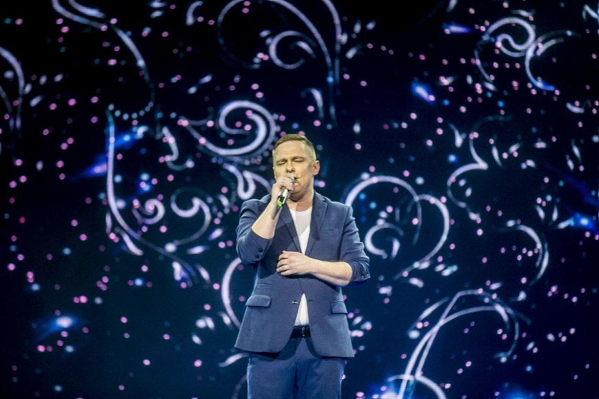"""Viganto Ovadnevo/Žmonės.lt nuotr./Trečiosios """"Eurovizijos"""" laidos akimirka"""