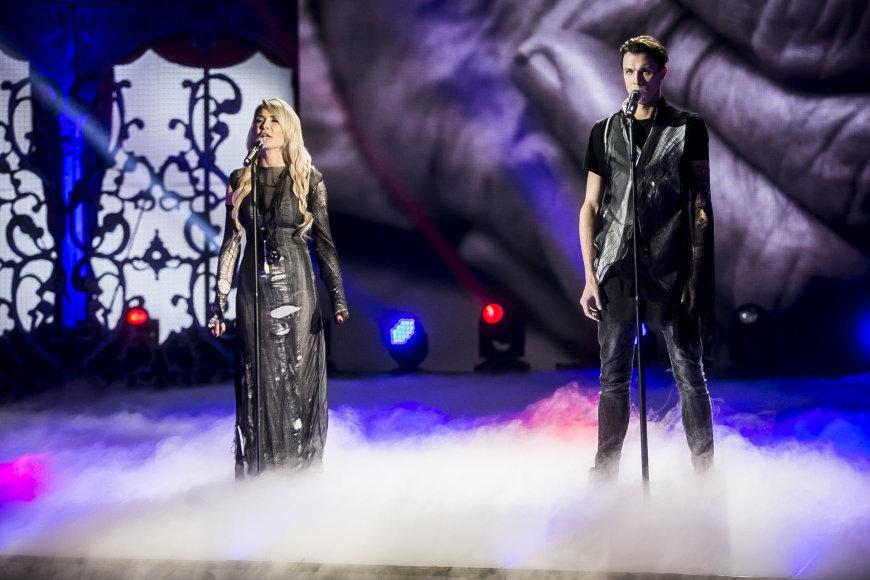 """Viganto Ovadnevo/Žmonės.lt nuotr./""""Žvaigždžių duetų"""" akimirka"""