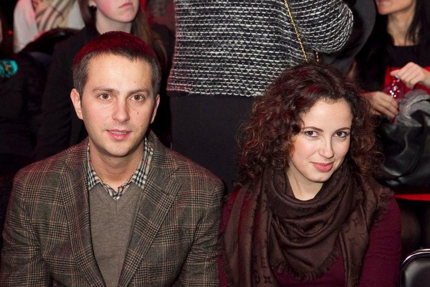 Karina Jeremian-Daniškevičienė su vyru Mantu