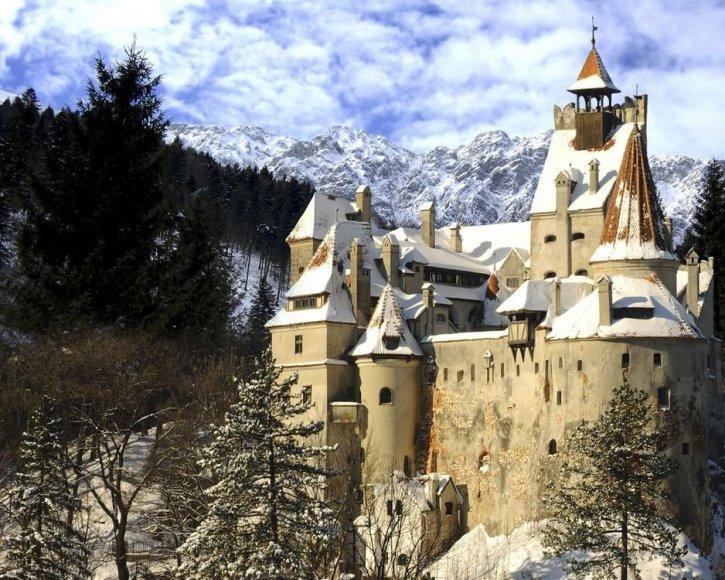 Drakulos pilis Transilvanijoje (Rumunija)