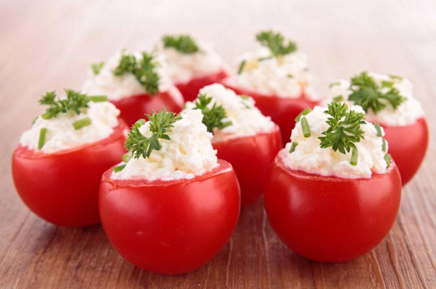 Krabais ir lęšiais įdaryti pomidorai