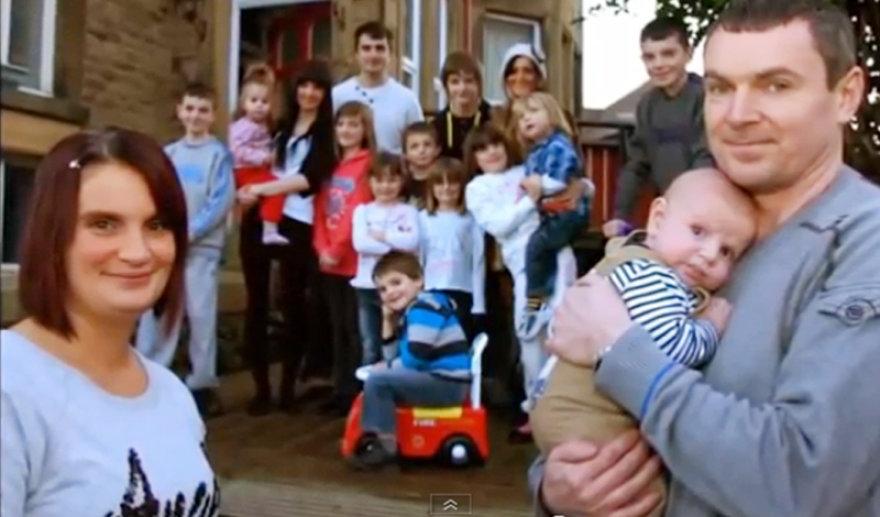 Gausiausia šeima Didžiojoje Britanijoje