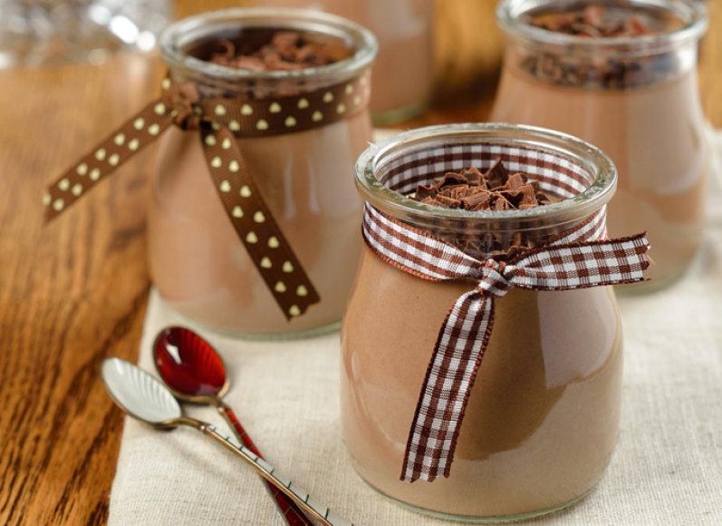 Vanilinis ir šokoladinis pudingas