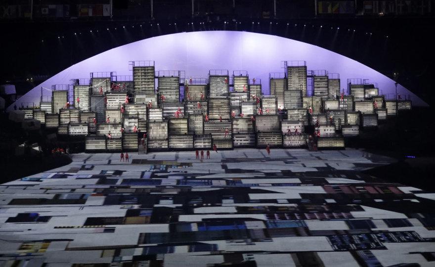 """""""Scanpix"""" nuotr./Olimpinių žaidynių atidarymo ceremonija"""