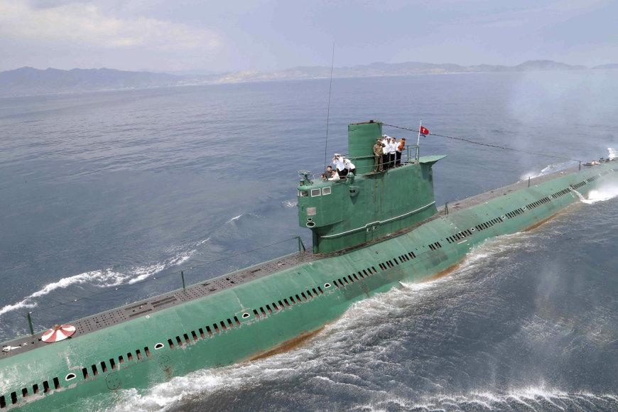 """""""Reuters""""/""""Scanpix"""" nuotr./Šiaurės Korėjos povandeninis laivas"""