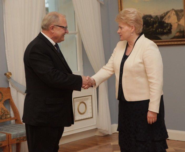 Alfonsas Eidintas, Dalia Grybauskaitė
