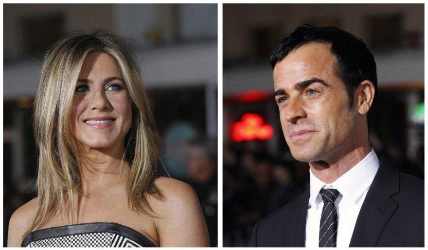 Jennifer Aniston pagaliau oficialiai susižadėjo su Justinu Theroux
