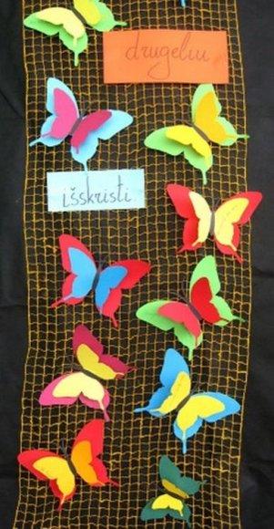 Mokinių kurti drugeliai