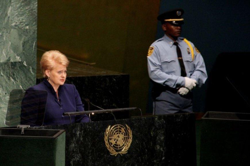 Dalia Grybauskaitė JT Generalinėje Asamblėjoje