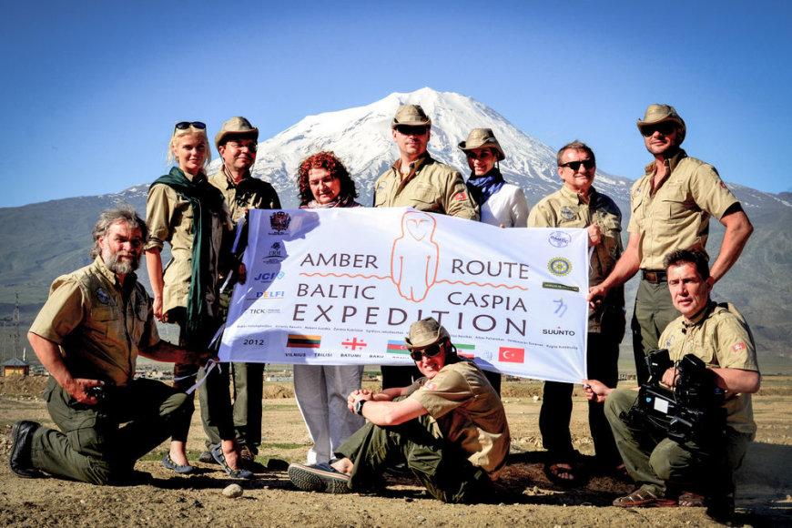 """Amber route"" ekspedicijos dalyviai"