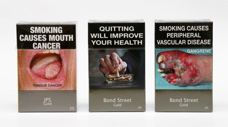Cigarečių pakeliai Australijoje